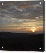 Stormy Sunset Beginning  Acrylic Print