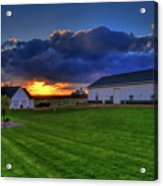 Stormy Sunset In The Country Acrylic Print