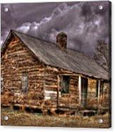 Stormy Times Tenant House Greene County Georgia Art Acrylic Print