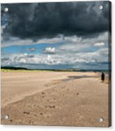 Stormy Weather Over The Beach In Scotland Acrylic Print