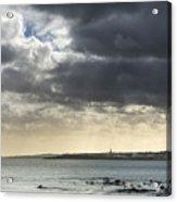 Stormy Whitley Bay Acrylic Print