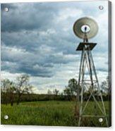 Stormy Windy Windmill Acrylic Print
