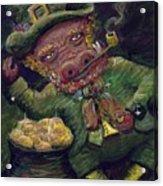 St.patricks Day Pig Acrylic Print