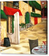 Strada Al Mattino Acrylic Print