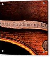 Stradivarius Label Acrylic Print
