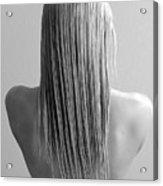 Straight Hair Acrylic Print