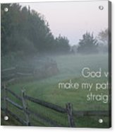 Straight Paths - Text Full Acrylic Print