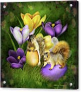 Strange Bunnies Acrylic Print