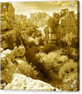 Strange Rock Formations At El Torcal Near Antequera Spain Acrylic Print