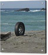 Strange Tire Ad Acrylic Print