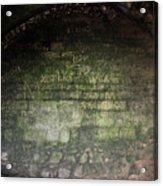 Strange Wall Marks Acrylic Print