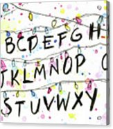 Stranger Things Alphabet Wall Christmas Lights Acrylic Print
