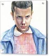 Stranger Things Eleven Portrait Acrylic Print