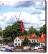 Windmill In Strangnas Sweden Acrylic Print