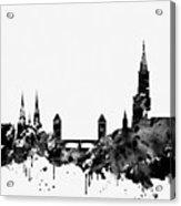 Strasbourg Skyline-black Acrylic Print