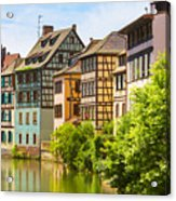 Strasbourg, Half-tmbered Houses, Petite France, Alsace, France  Acrylic Print