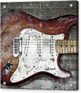 Strat Guitar Fantasy Acrylic Print