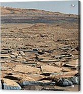 Stratified Rock On Mars Acrylic Print
