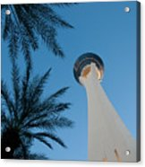 Stratosphere Tower Acrylic Print by Andy Smy