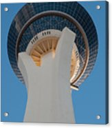 Stratosphere Tower Up Close Acrylic Print