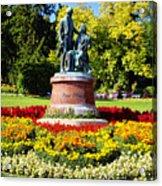 Strauss In Flowers Acrylic Print