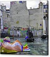 Stravinsky Fountain Near Centre Pompidou In Paris, France Acrylic Print
