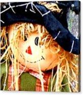 Straw Girl Acrylic Print