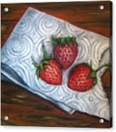 Strawberries-3 Contemporary Oil Painting Acrylic Print