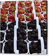 Strawberries And Blackberries Acrylic Print