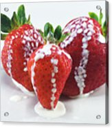 Strawberries And Cream Acrylic Print