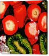 Strawberries And Kiwi Acrylic Print
