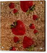 Strawberries And Stone Slab  Acrylic Print