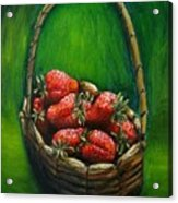 Strawberries Contemporary Oil Painting Acrylic Print