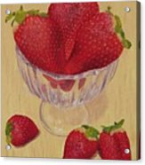 Strawberries In Crystal Dish Acrylic Print