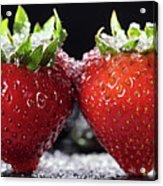 Strawberries Panorama Acrylic Print