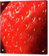 Strawberry Abstract Acrylic Print