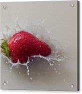 Strawberry And Milk Acrylic Print