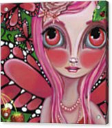 Strawberry Butterfly Fairy Acrylic Print