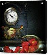 Strawberry Clock Acrylic Print