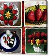 Strawberry Collage Acrylic Print
