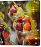Strawberry Desert - La Bouqueria - Barcelona Spain  Acrylic Print