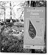 strawberry fields central park New York City USA Acrylic Print
