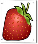 Strawberry Fruit Outlined Acrylic Print