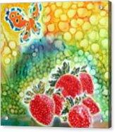 Strawberry Garden Acrylic Print