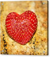 Strawberry Love Acrylic Print