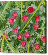 Strawberry Love Patch Acrylic Print