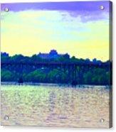 Strawberry Mansion Bridge Across The Schuylkill River Acrylic Print