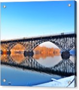 Strawberry Mansion Bridge  Acrylic Print