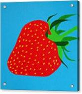 Strawberry Pop Acrylic Print by Oliver Johnston