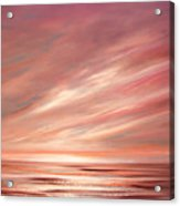 Strawberry Sky Sunset Acrylic Print